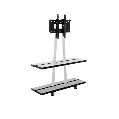 """รุ่น G2 ขาตั้งทีวีรองรับขนาดจอ 26""""-50"""" ทุกรุ่นทุกยี่ห้อ ชั้นวางกระจกอเนกประสงค์ 2 ชั้น สูง 1.30 เมตร"""